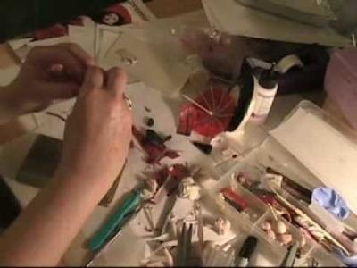 How to make Geisha Asian Hair on a Polymer Clay Figurine