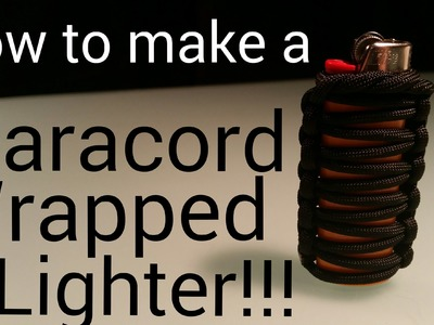How to Paracord wrap a lighter! Paracord Projects! my blog ep14