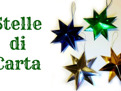 How To:Tutorial STELLE DI CARTA 3D Decorazione facile.Paper Star (Natale) Arte per Te