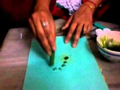Lady's finger Printing, Amazing Painting Style, Cool Painting Techniques