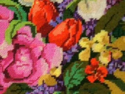 Needlepoint Kit Lily and Roses at www.abullrun.com