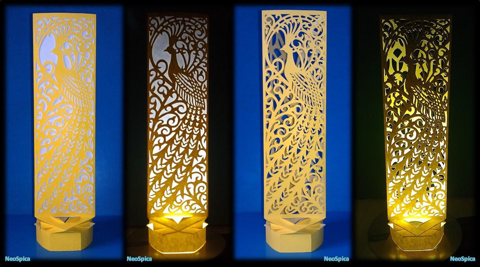 Paper Cut Lamp Fancy Bird