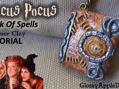 Polymer Clay Hocus Pocus Book Of Spells Pendant.Charm Tutorial Abracadabra