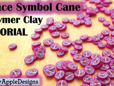 Polymer Clay Peace Symbol.Sign Cane Tutorial
