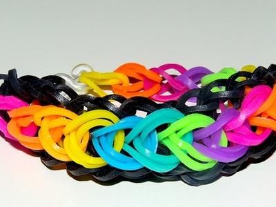 Rainbow loom Raindrop armband DIY bracelet tutorial Loom Bands Nederlands
