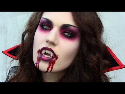 Scary Vampire Halloween Tutorial: Makeup, Hair & Costume