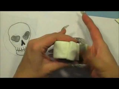 Skull cane tutorial for nail art with STAEDTLER Fimo