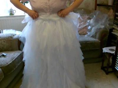 Tutorial for making Disney Giselle's Ruffle Skirt