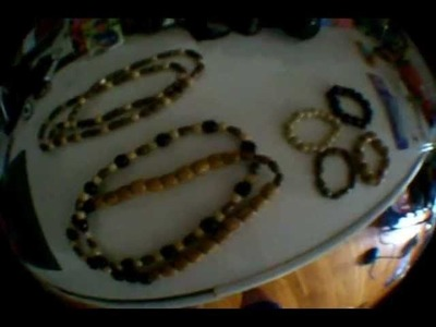 Cheap DIY: How to Make Wooden Beaded Chains.Necklaces and Bracelets
