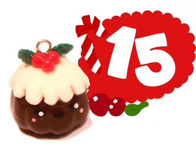 ❤ Christmas Pudding! Kawaii Christmas 15 -Polymer Clay tutorial