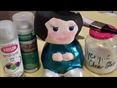 How 2 Make an Angel with Paper Mache Clay
