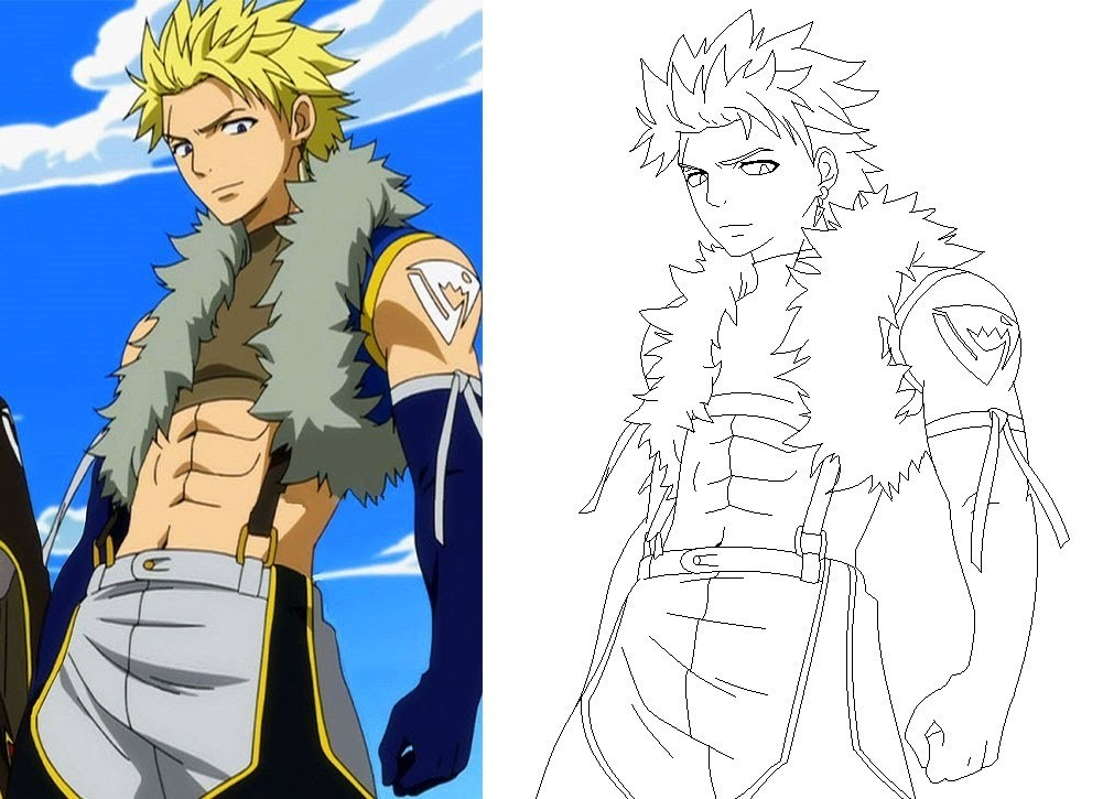 How To Draw Sting Eucliffe- Fairy Tail (MS Paint)