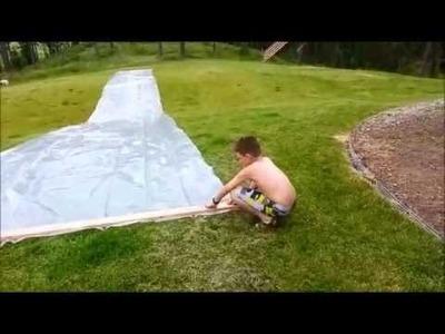 How to Make a Giant Slip'n'Slide