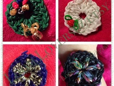 How to make a Rainbow Loom Wreath, Snowflake, Mandala