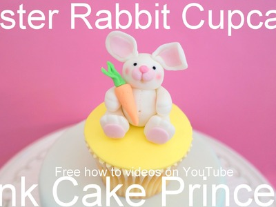 How to Make Easter Bunny Rabbit Cupcakes or Easter Cake Topper