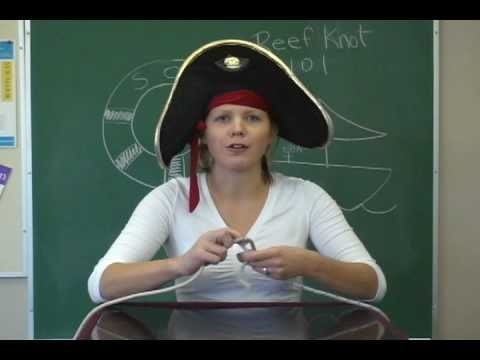 How to tie a reef knot (pirate)