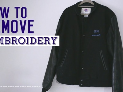 ✂ Quick Fix: How To Remove Embroidery