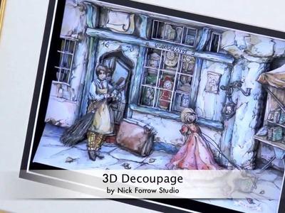 3D Hand-made Decoupage by Nick Forrow Studio