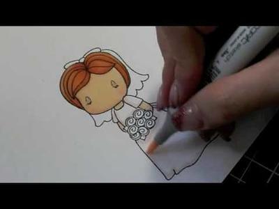 Copics - Coloring the CCD Bride Emma Image