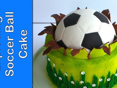 FIFA - Soccer ball cake - Football cake - How to make a ball topper