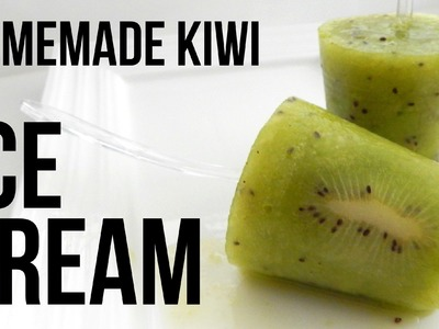 HOMEMADE KIWI ICE CREAM (How to make, easy home recipe)