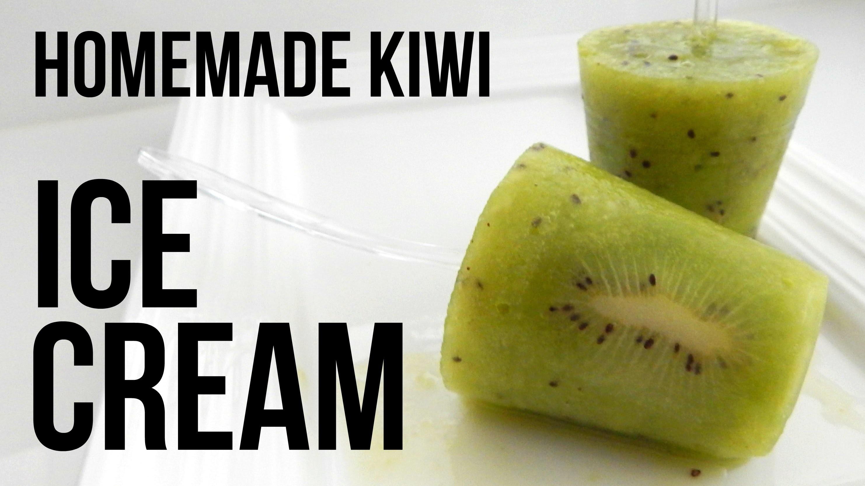 HOMEMADE KIWI ICE CREAM (How to make, easy home recipe)