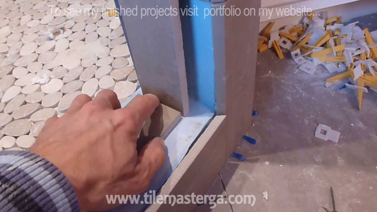 """How to install shower surround tile backer board & waterproofing membrane PART """"3"""""""