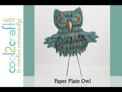 How to Make a Paper Plate Owl by EcoHeidi Borchers