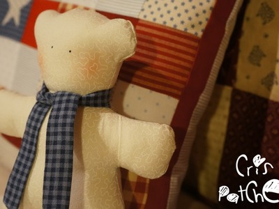 How to make a teddy bear. Patchwork