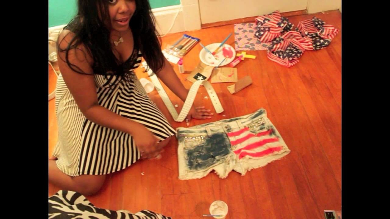 How to make FLAG SHORTS, . [Perfect for the 4th of July Weekend]
