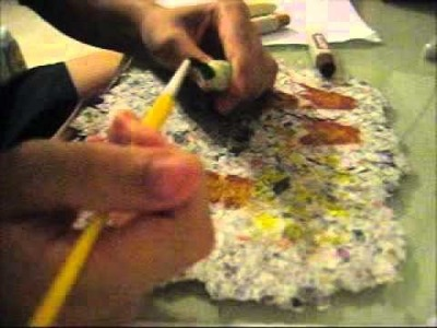 How to make recycled paper out of newspaper