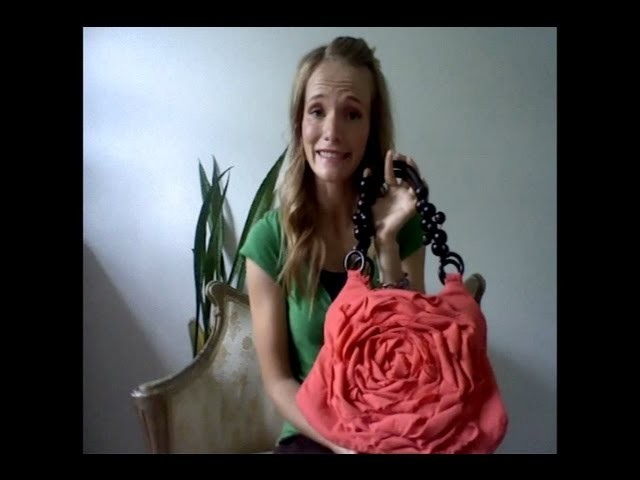 How to - Rosette Flower Purse - hand bag tutorial woohoo!  part 1 of 3