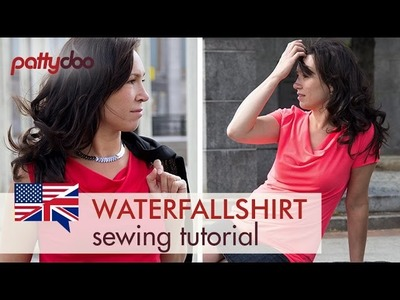 How to sew a cowl neck. waterfall shirt - an easy sewing tutorial