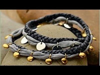 Jewelry How To - Make a Silk Wrap Spangle Bracelet
