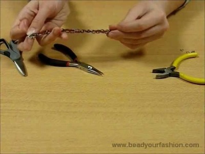 Jewelry making - Technique 6: How to get cord through jasseron