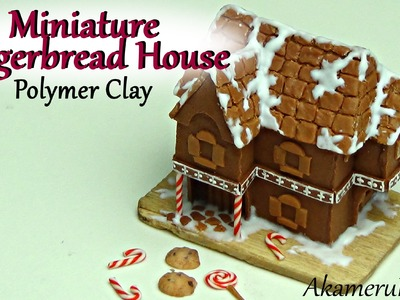 Miniature Gingerbread House - Polymer clay Tutorial