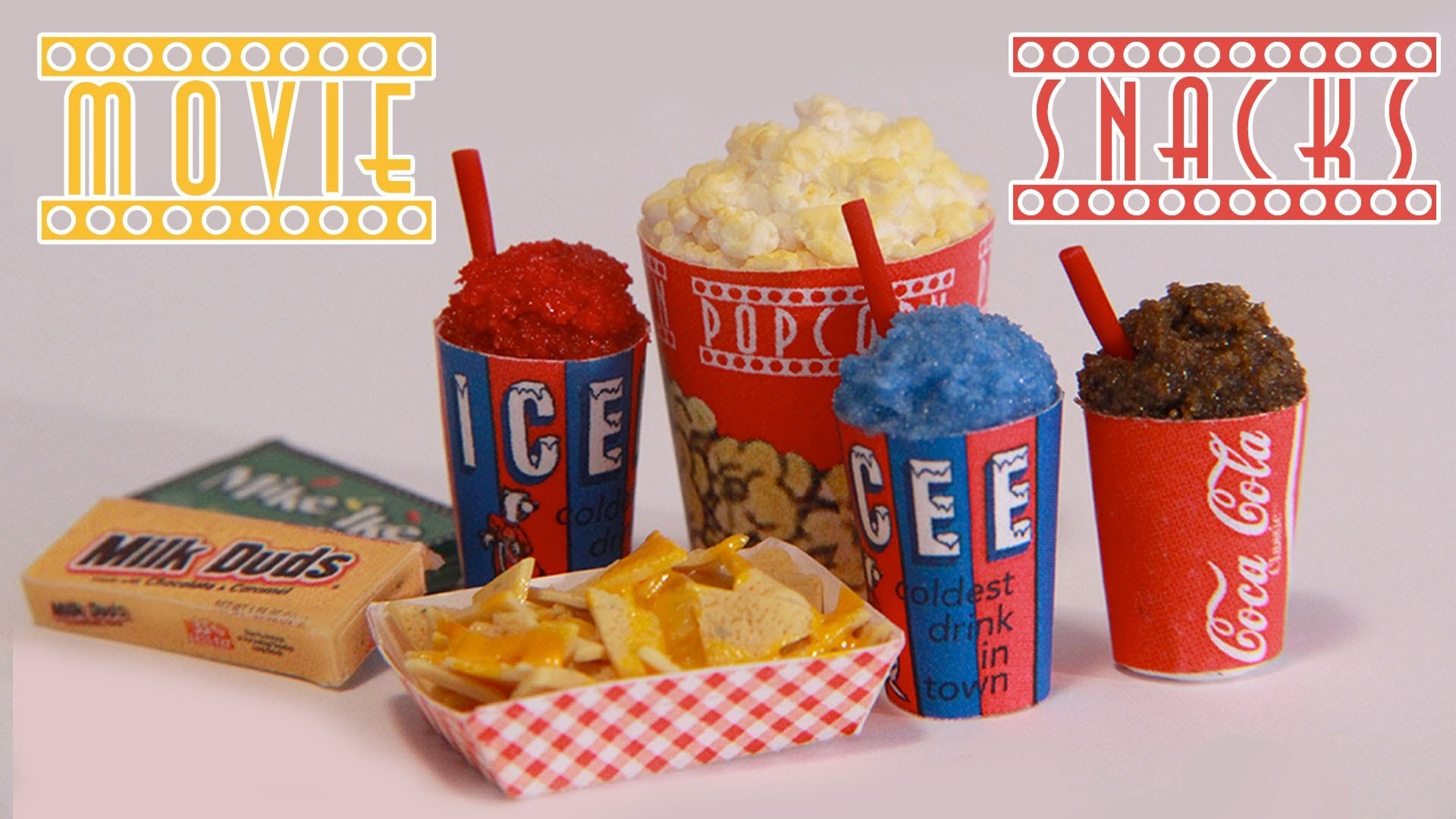 Movie Theater Snacks : How to Make Miniature Popcorn, Icee, Nachos, & Candy (Polymer Clay)