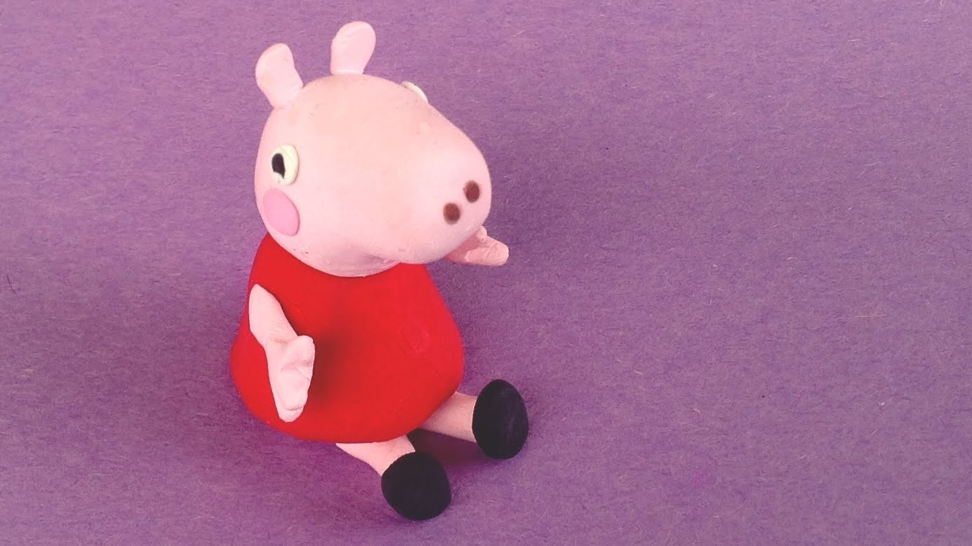 Peppa Pig Polymer Clay Tutorial - How to Make a Peppa Pig Clay Charm
