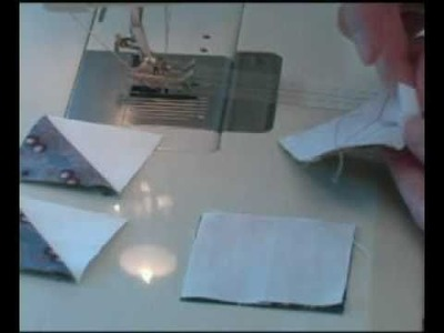 Sewing Half Square Triangles with the Sew Easy Guide.
