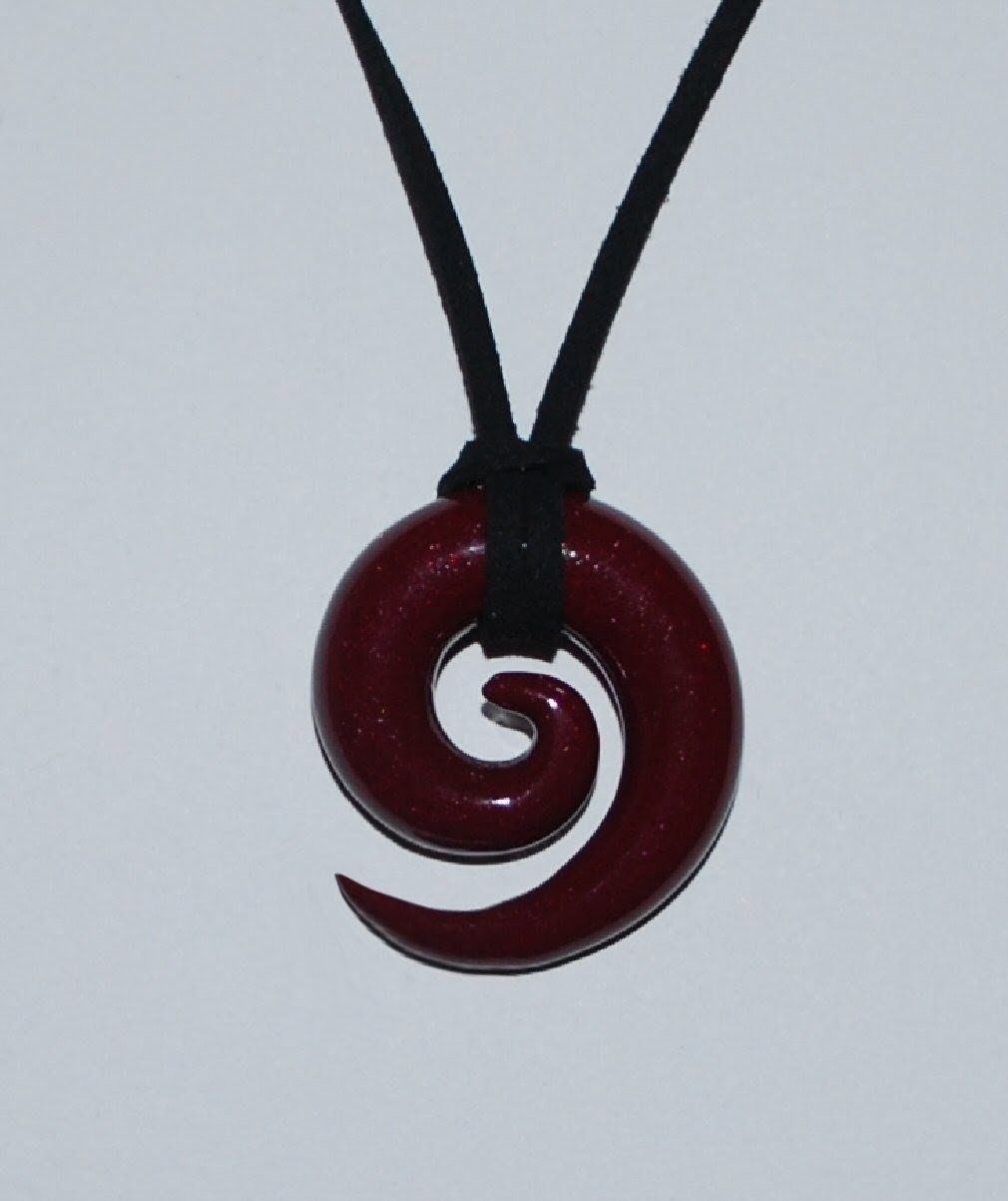 Spiral Pendant Necklace Polymer Clay Tutorial