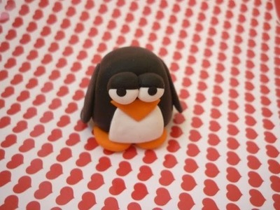 Tutorial pinguino stupido xD (polymer clay penguin)