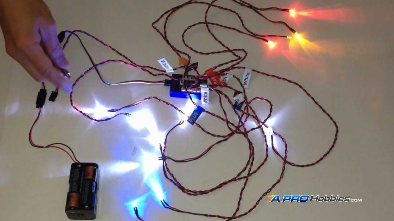 12 LED Flashing Light System for RC Cars. Trucks. Robotics. Hobby Projects