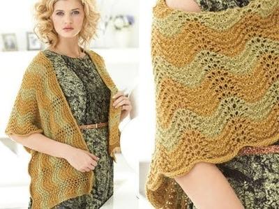 #31 L-Shaped Wrap, Vogue Knitting Spring.Summer 2010