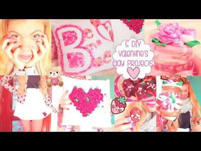 5 DIY Valentine's Day Projects: Room Decor, Pillows, Treats, Gifts, Outfit & Nails