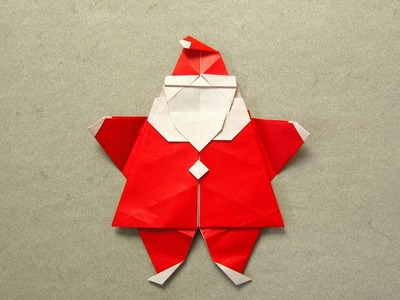Christmas Origami Instructions: Santa (Peter Engel)