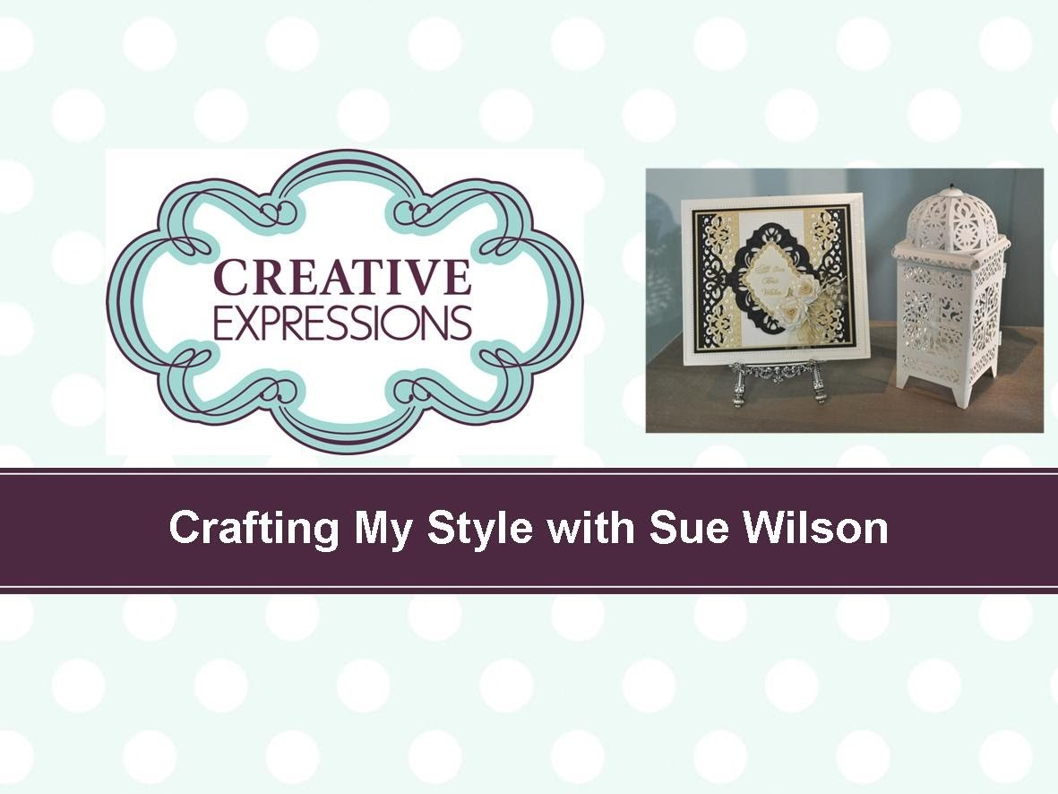 Craft Dies by Sue Wilson -- Tutorial Video; Interwoven Border Card Card for Creative Expressions