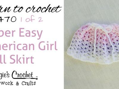 Crochet Easy American Girl Doll Skirt - 1 of 2 - FP470