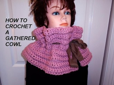 CROCHET GATHERED COWL.scarf, more rectangle crochet see link