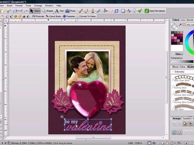 Digital Scrapbook Artist Valentines Card Tutorial