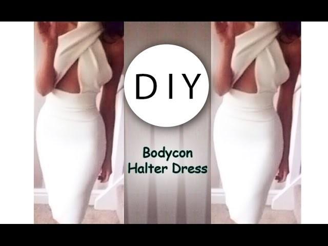 DIY Bodycon Halter Dress